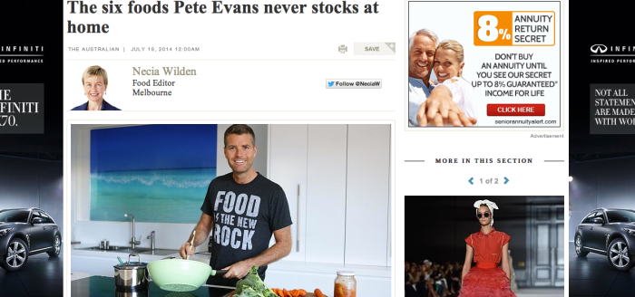 pete evans slams dietitians association of Australia