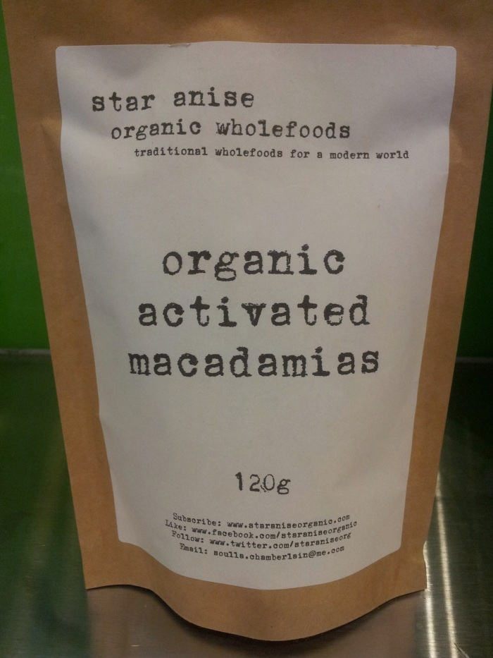 organic activated macadamia nuts