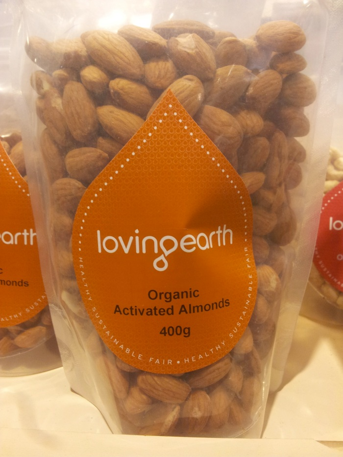 activated almonds nutrition information